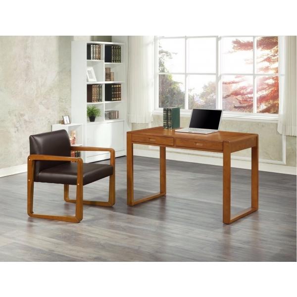 蘭卡斯全實木書桌3.7尺 貝爾椅