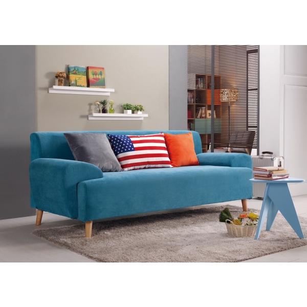 布魯斯三人布沙發 高腳設計