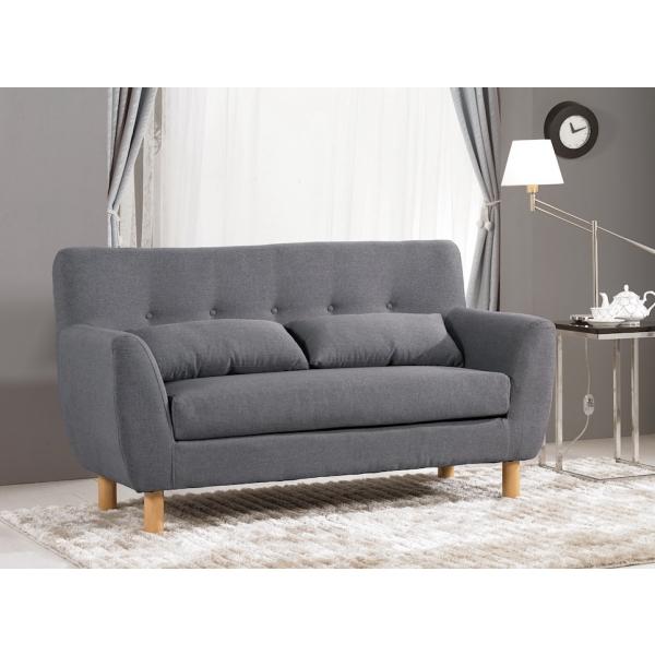 科特二人布沙發 高腳設計