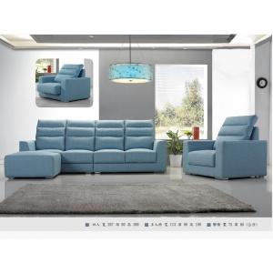 巴頓 牛皮沙發 活動式頭枕設計 座位滑動加深設計