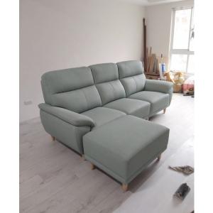 毛毛蟲牛皮沙發 座位滑動加深設計
